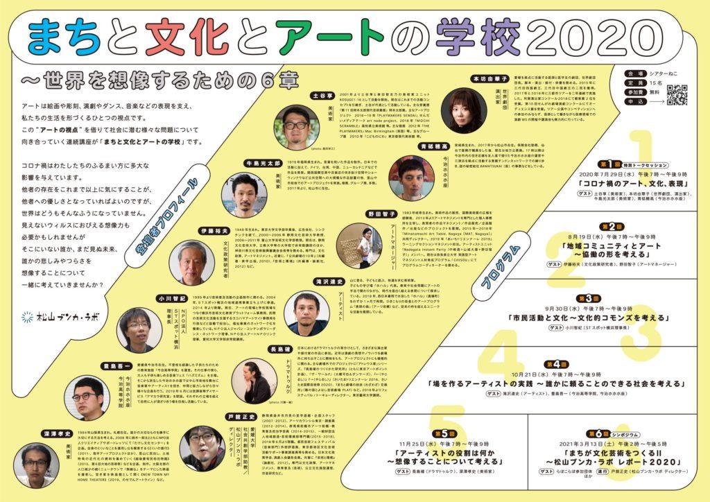 11/25(水)【オンライン(音声のみ)開催】第5回松山ブンカ・ラボ まちとブンカとアートの学校2020